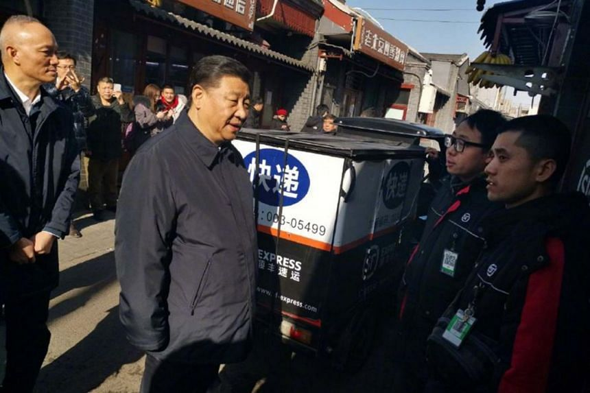 Chinese President Xi Jinping dropped in on surprised diners at a small Beijing restaurant on Feb 1, 2019.