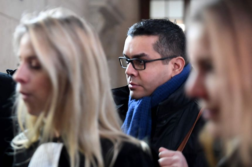 Defendant Antoine Quirin arriving for a hearing at the Criminal Court  in Paris in Jan 14, 2019.