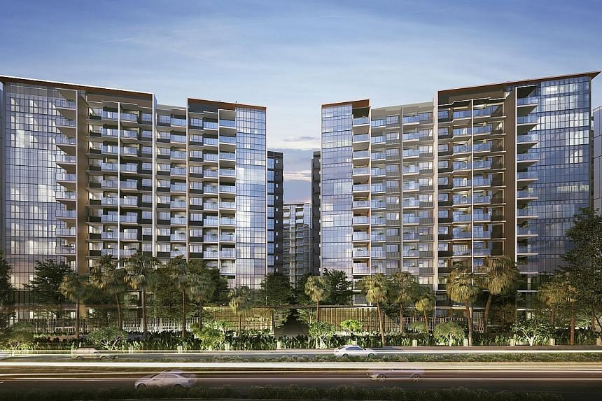An artist's impression of Affinity at Serangoon. Within seven days of last week's announcement on the Cross Island Line, it sold around 45 units.