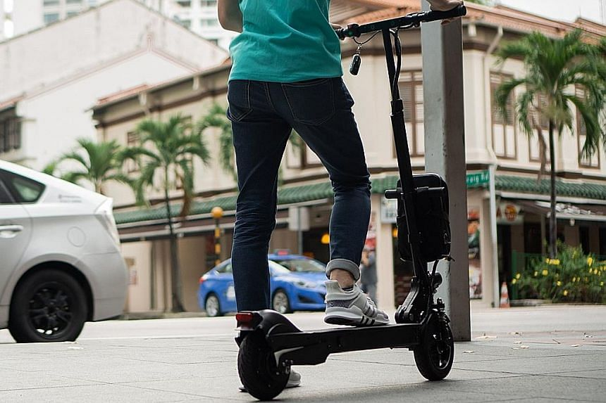 Personal mobility devices must meet certain specifications, such as having a top speed of no more than 25kmh and a maximum weight of 20kg, under the Active Mobility Act.
