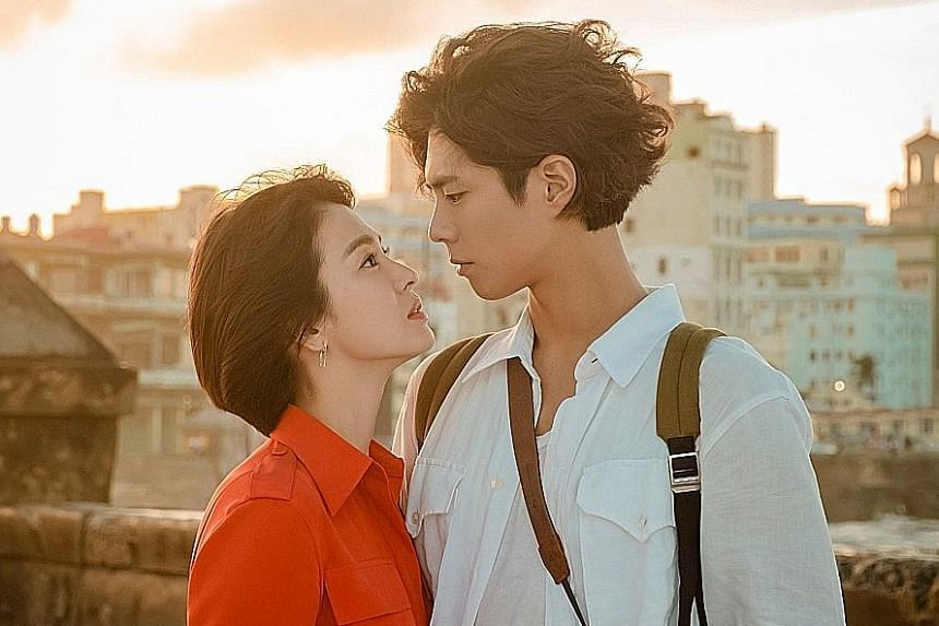 Park Bo-gum recently finished shooting romantic comedy series Encounter with co-star Song Hye-kyo.