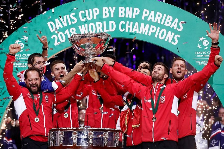 Croatia, with the Davis Cup after beating France, will defend the trophy under a new format.
