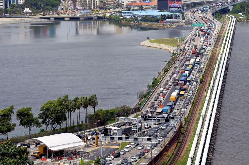 Heavy traffic on the Causeway in a photo taken in 2017. Traffic conditions are likely to build up over the Chinese New Year period.