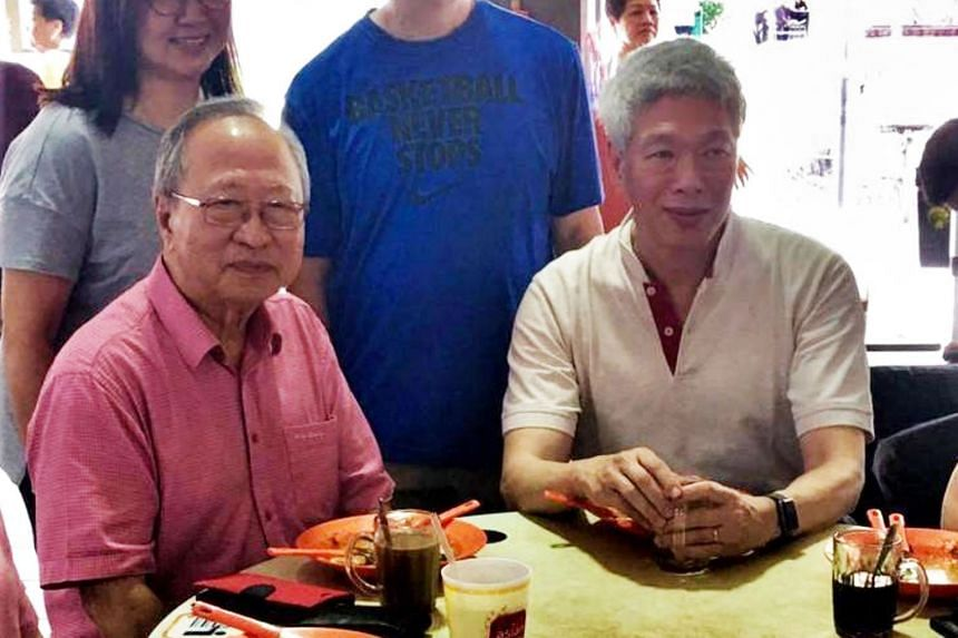 Former presidential candidate Tan Cheng Bock (left) posted on Facebook photos from his breakfast with Mr Lee Hsien Yang.