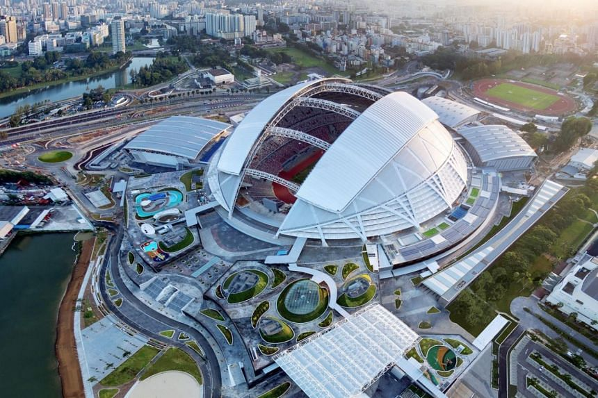 The Singapore Sports Hub that was built at a cost of $1.33 billion.