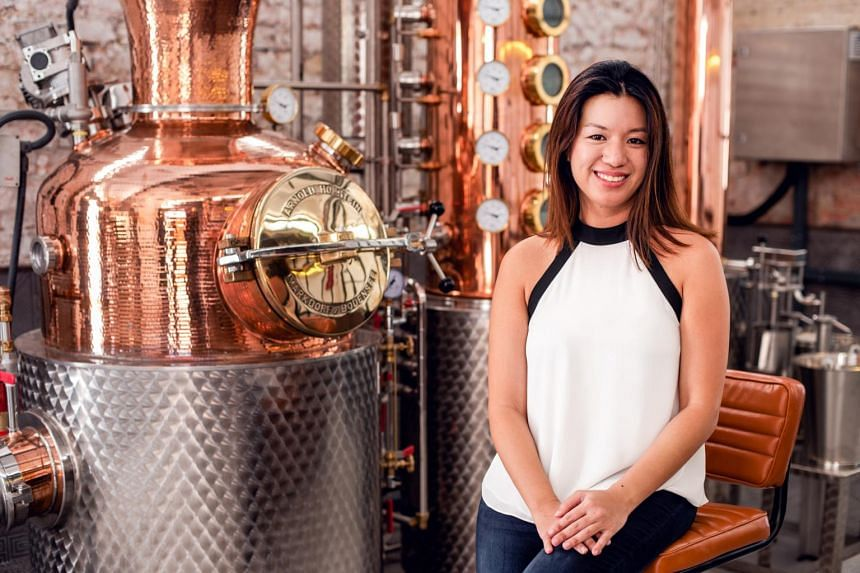 Ms Jamie Koh, founder of Brass Lion Distillery, which was second in Singapore to start exporting with its Singapore Dry Gin.