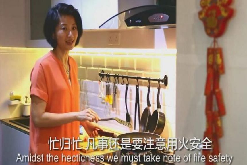 MP Sun Xueling posted a two-minute Facebook video on fire safety tips with narration in Hokkien on Jan 31, 2019.