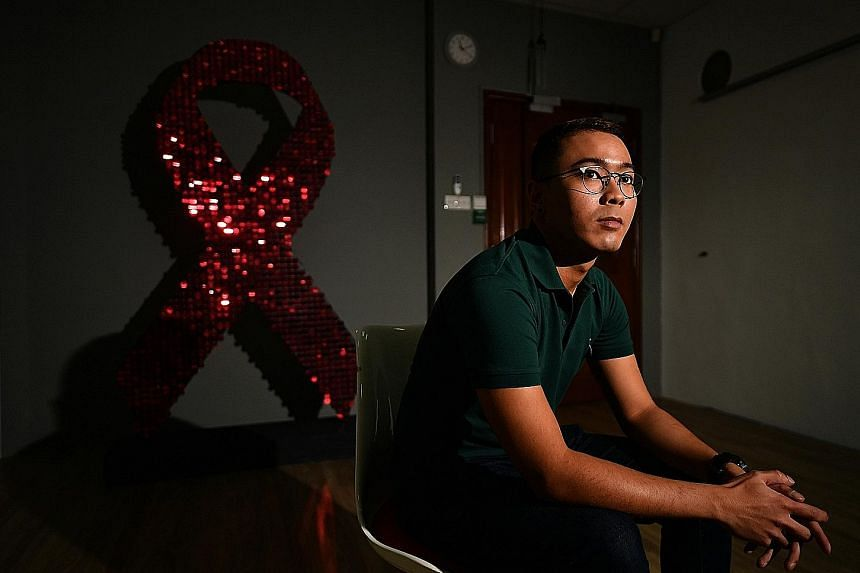 Mr Adrian Tyler, 27, secured a job as a coordinator for youth programmes at Action for Aids last month. It has been nearly three years since his HIV diagnosis.