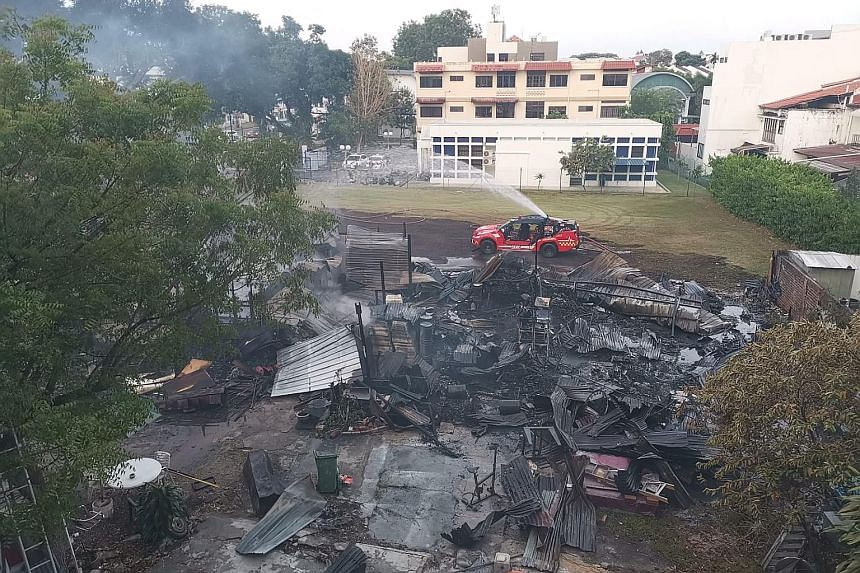 The SCDF said that the fire was extinguished in about two hours.