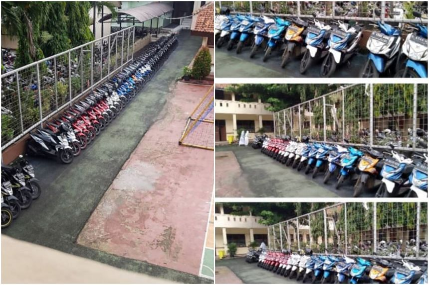 Slamet Gunaedi's impeccable tidying skills have won him the attention of netizens after social media posts showcasing the neat lines of motorcycles he has organised went viral.