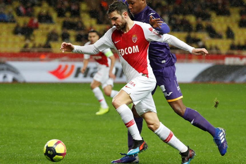 Cesc Fabregas fired home in the second half to help Monaco move from 19th to 18th in the standings and claim their first victory at home in the league.