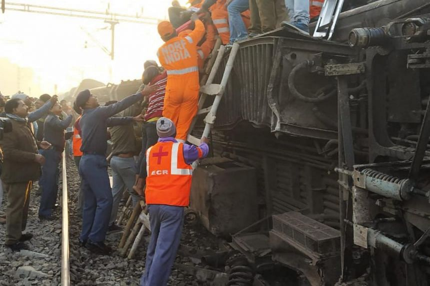 Nine coaches of the Delhi-bound Seemanchal Express came off the tracks near Sahadai Buzurg station, in eastern India's Bihar state.