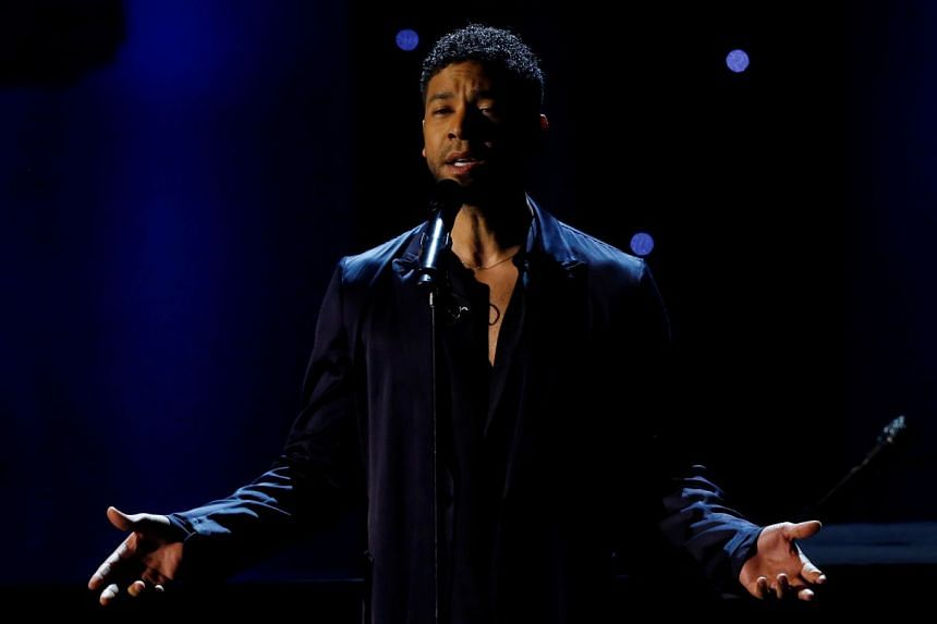 Jussie Smollett performs a tribute to John Legend at the NAACP Image Awards in 2016.