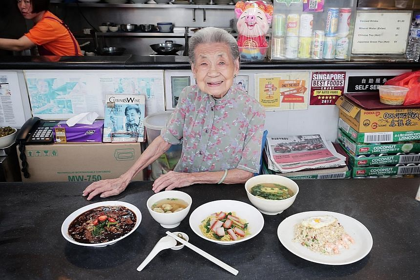 Nam Seng owner Leong Yuet Meng is still working at age 90.