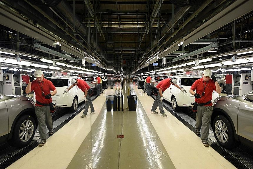 A file photo of Nissan's manufacturing plant in Sunderland, which makes the Qashqai SUV and other models. Nissan said planned investment in the next-generation Juke and Qashqai was unaffected.