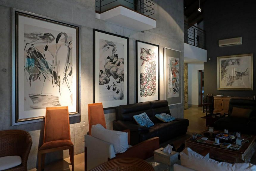 Homecoming: Chen Wen Hsi Exhibition @ Kingsmead runs at the artist's former residence from April 12 to May 3, with about 20 figurative, abstract and calligraphy paintings in different parts of the house.