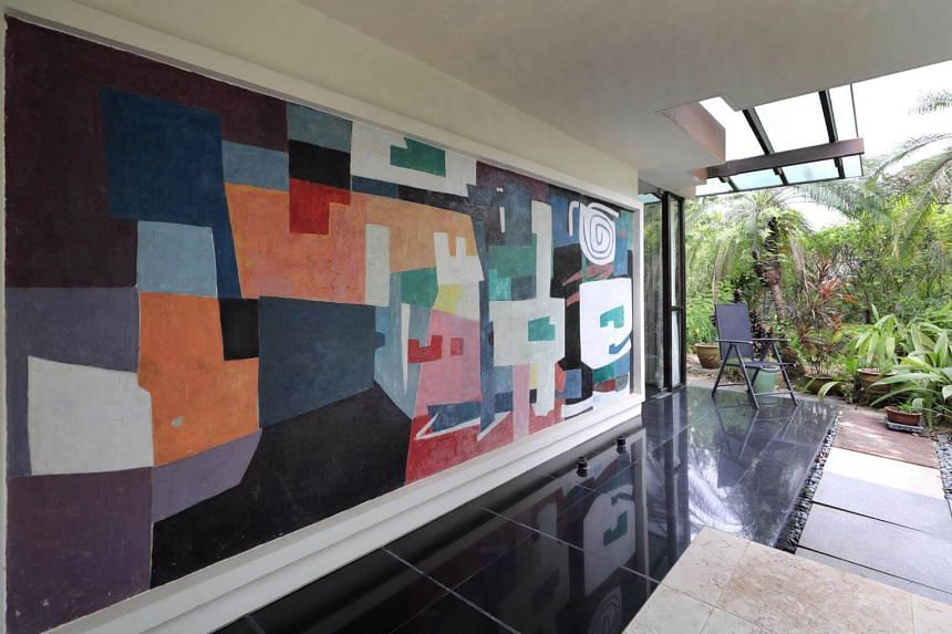 One of the murals by Chen Wen Hsi, titled Studio, that will be on display at the upcoming exhibition in Kingsmead Road.