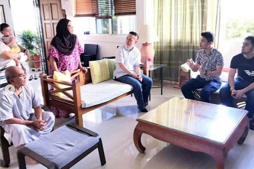 Tampines GRC MP Baey Yam Keng visited the family of Ms Jamilah on Feb 2, 2019.