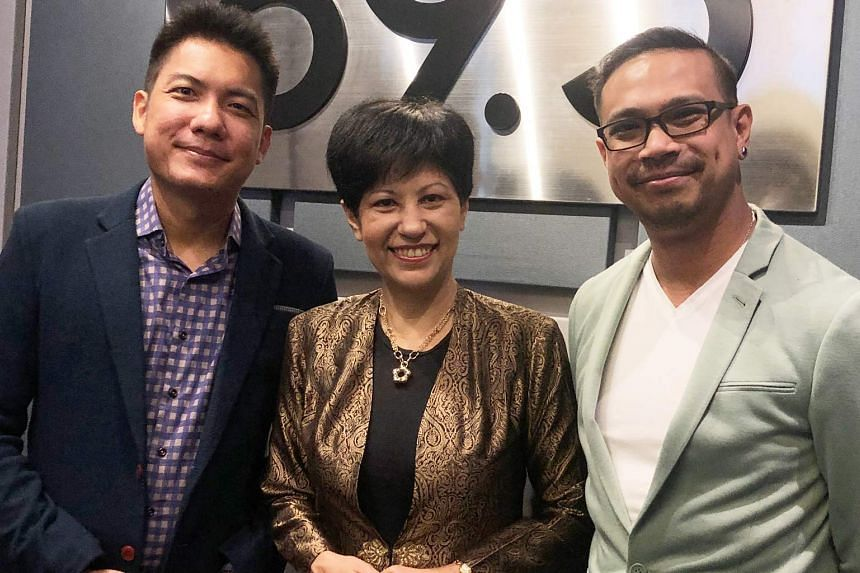 Ms Indranee Rajah, Minister in the Prime Minister's Office, and Second Minister for Finance and Education (centre), shares a sneak preview of Budget 2019 in this podcast with Money FM's Elliott Danker (right) and Ryan Huang.