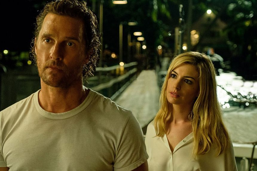 Matthew McConaughey and Anne Hathaway star in Serenity, which has received poor reviews.