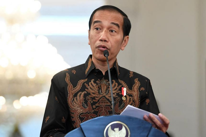 Indonesian President Joko Widodo made strong remarks slamming his rival in his speeches, ranging from criticising Mr Prabowo's statement that Indonesia could become extinct to accusing the rival camp of using foreign consultants to prepare themselves