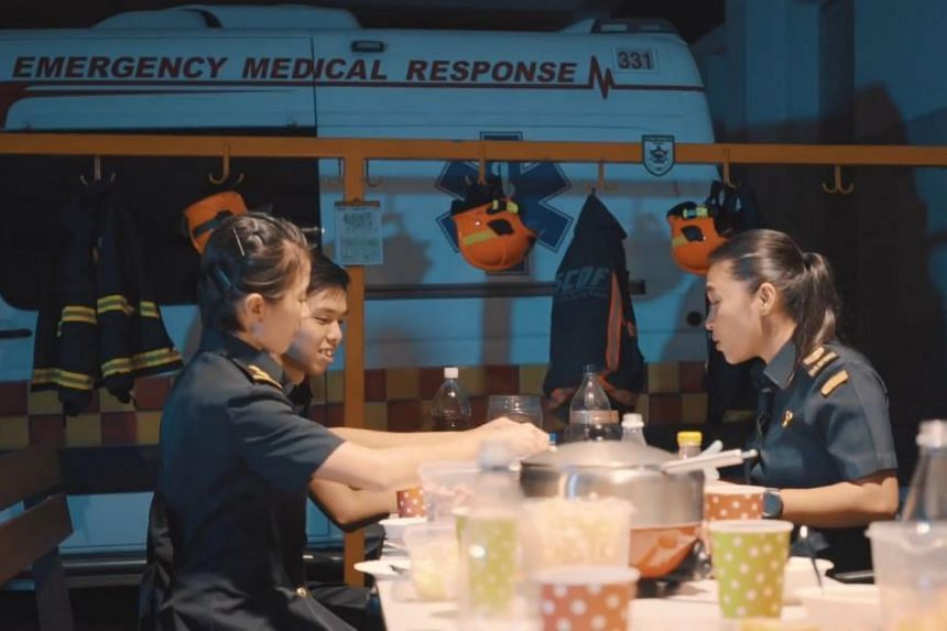 Produced in-house by the Singapore Civil Defence Force (SCDF), the music video shows their officers in their uniforms gathering over a steamboat reunion meal.