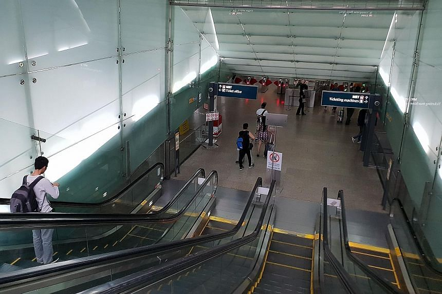 Teacher Ian Stuart suggests it should be made impossible for the escalators to be activated before the shutter door opens.