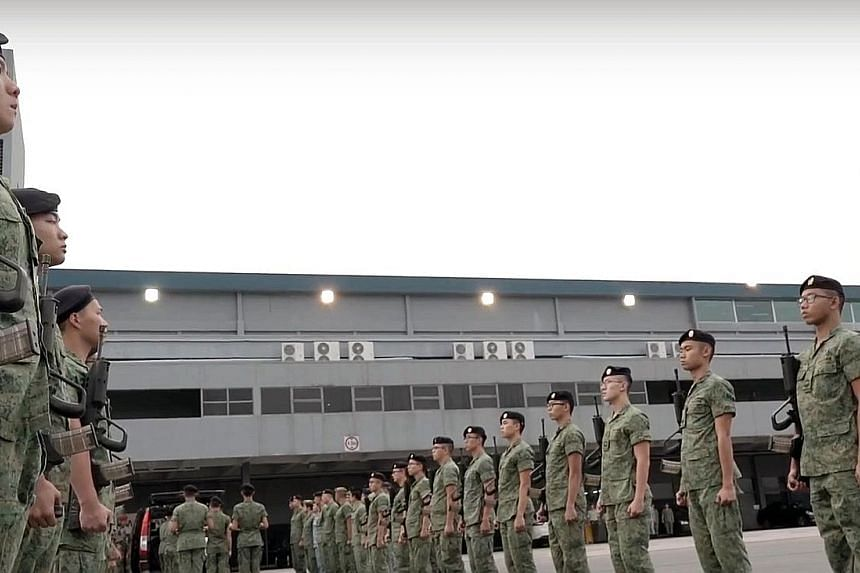 An SAF guard of honour waiting to receive the body of Corporal First Class (National Service) Aloysius, Pang in Singapore on Jan 25. His death while on a training exercise in New Zealand prompted the SAF to call for a safety timeout. [CFC(NS)][/CFC(N