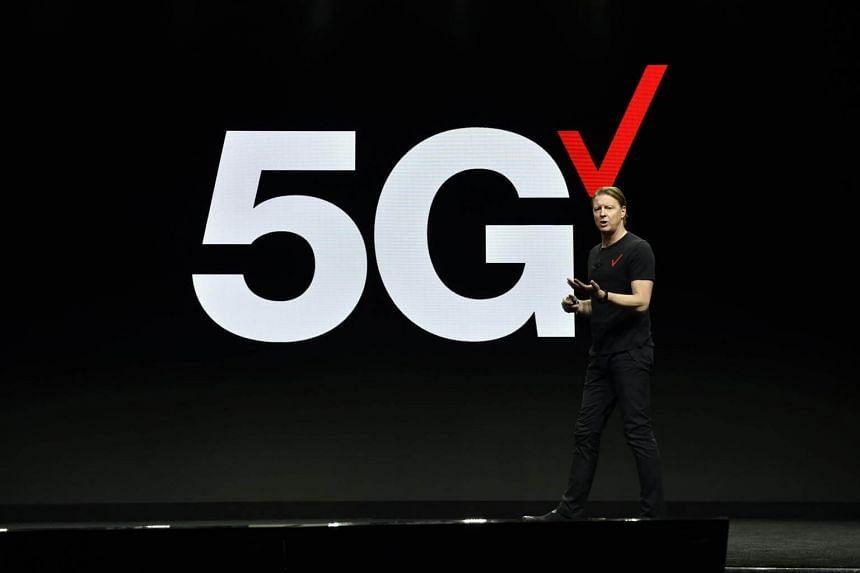 Verizon CEO Hans Vestberg delivers a keynote address at CES 2019 at The Venetian Las Vegas, on Jan 8, 2019.