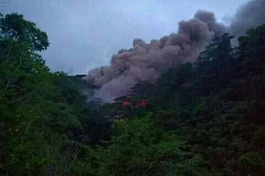The National Disaster Management Agency said hot lava and volcanic rocks have slid down from Mount Karangetan volcano, only 300m away from villages, and 200 meters from a road.