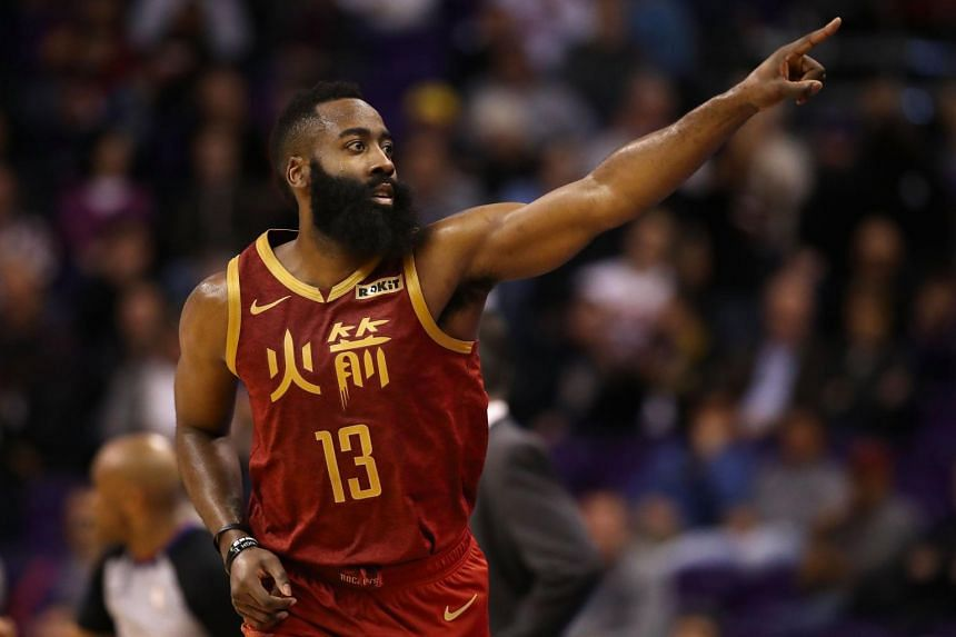 James Harden scored 22 points before half-time and was the only member of the Rockets to reach double figures prior to the intermission.
