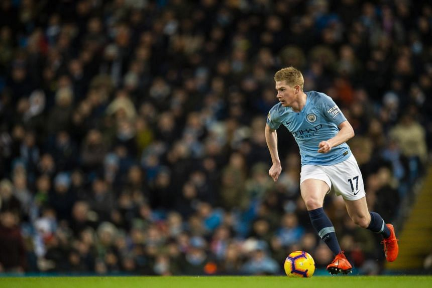 Manchester City's Kevin De Bruyne in action during the match between Manchester City and Arsenal FC, on Feb 3, 2019.