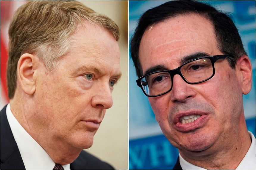 US Trade Representative Robert Lighthizer (left) and Treasury Secretary Steven Mnuchin will lead the talks next week.