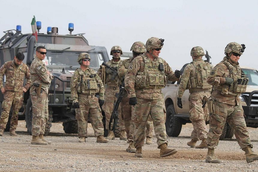US soldiers attending a training session for the Afghan Army in Herat, Afghanistan, on Feb 2, 2019.