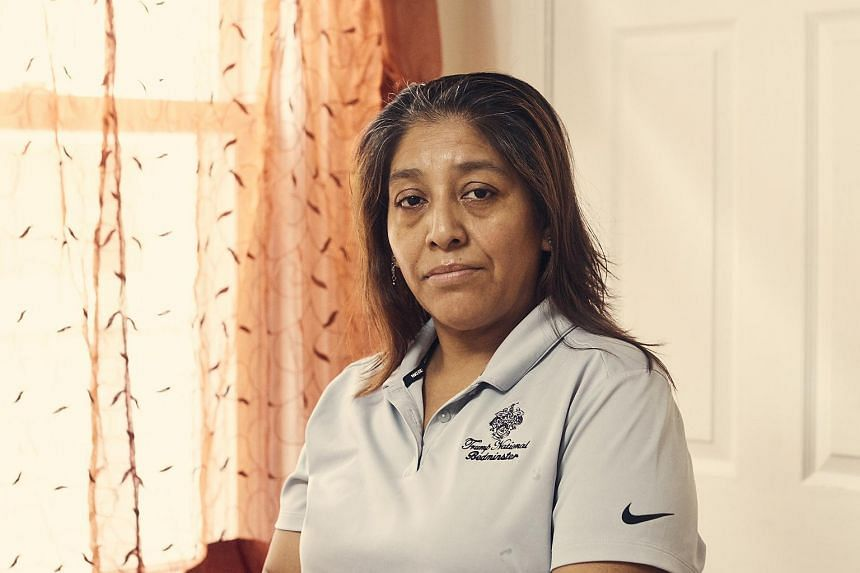 Victorina Morales, a former member of the housekeeping staff at the Trump National Golf Club Bedminster, at her home in Bound Brook, New Jersey on Nov 1, 2018.