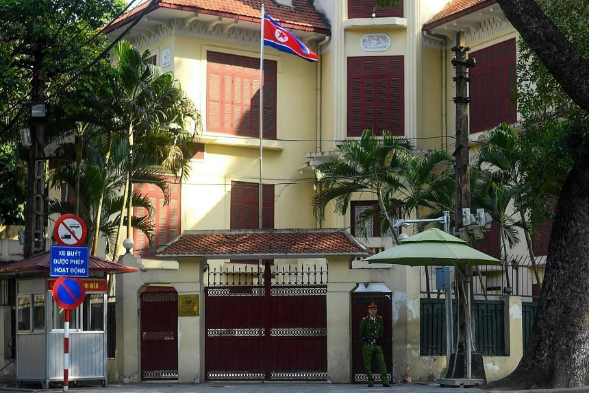 The North Korean embassy in Hanoi. Vietnam has been chosen for the second summit between US President Donald Trump and North Korean leader Kim Jong Un.