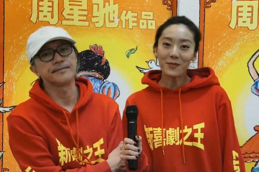For the lead role, actor-turned-director Stephen Chow (left) found a relatively unknown star in Chinese actress E Jingwen.