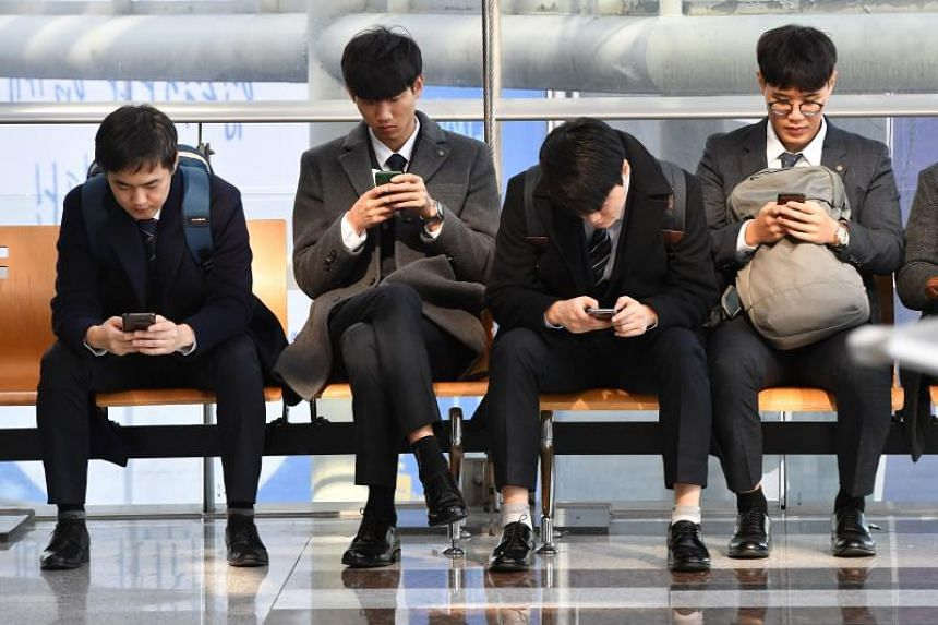The Pew Research Centre report found strong majorities of adults using smartphones in the world's wealthier countries, led by 95 per cent adoption in South Korea.