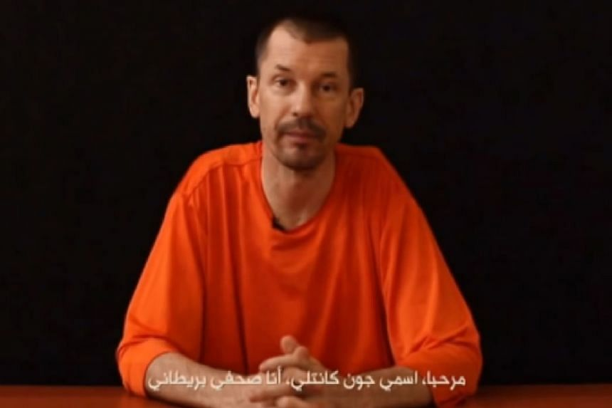John Cantlie in a screenshot from a video released by ISIS.