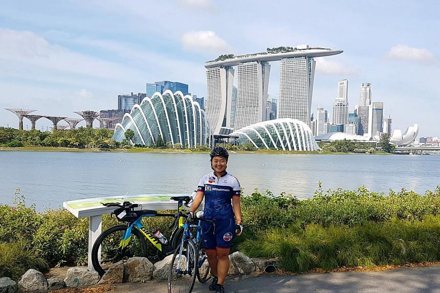 Tania Murphy picked up cycling last year through OCBC Cycle's learn-to-ride programme Project Training Wheels after being nominated by her husband. Now an avid cyclist, she cycles up to 90km every weekend. She is looking to take part in the OCBC Cycl