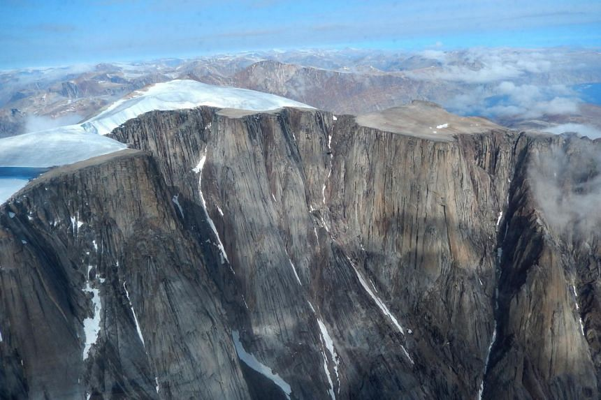 Glaciers and ice caps on Baffin Island in Arctic Canada have been retreating rapidly in recent decades.