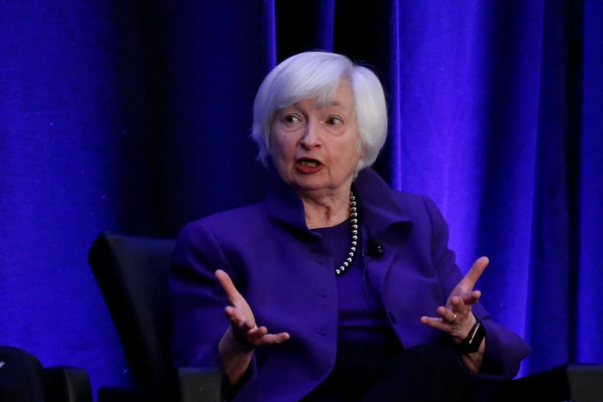 """Former Federal Reserve Chair Janet Yellen said she continued to see the US economy as """"solid and strong,"""" driven by consumer demand that is being boosted by rising wages."""