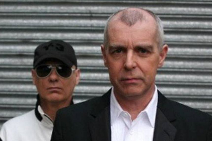 Pet Shop Boy: Neil Tennant (right) and keyboardist Chris Lowe.