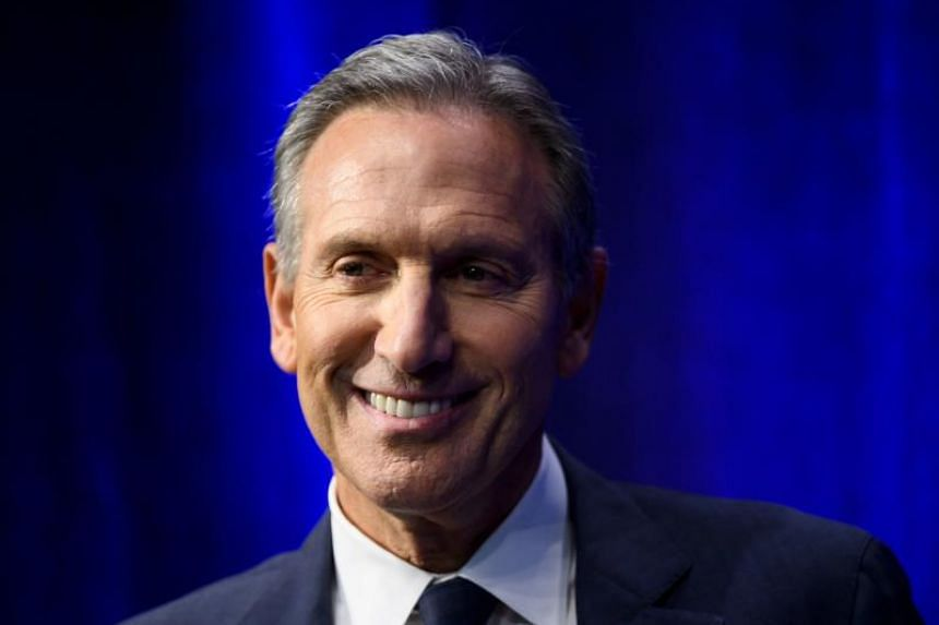 Former chairman and CEO of Starbucks Howard Schultz at the presentation of his book From The Ground Up on Jan 28, 2019, in New York City.