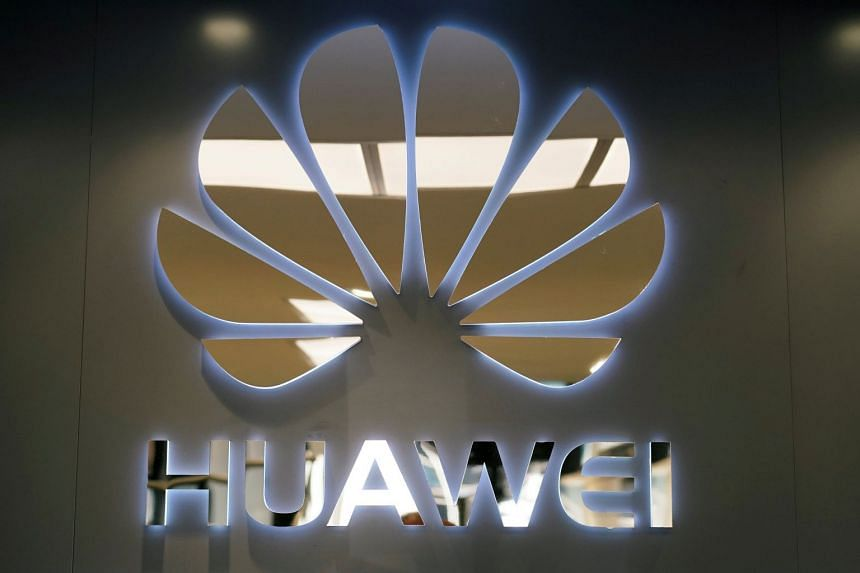 A Huawei logo at one of its stores in Madrid, Spain.
