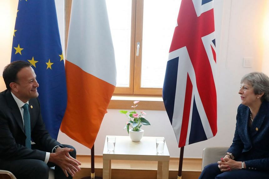 British Prime Minister Theresa May plans to dine with her Irish counterpart Leo Varadkar on Feb 8, 2019.