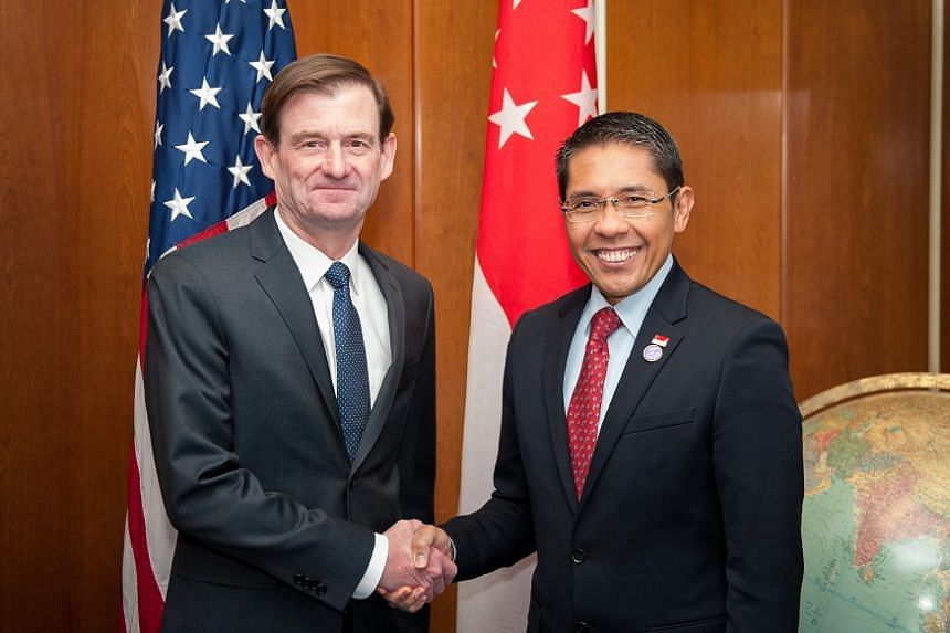 Dr Maliki (right) with US Undersecretary of State for Political Affairs David Hale.