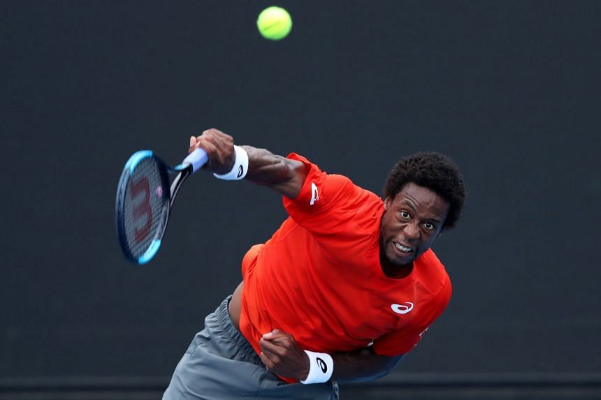 France's Gael Monfils in action during the Australian Open.