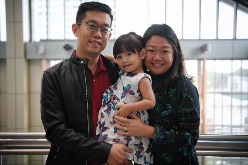 Beautician Lin Xiu Zhen, 32, and her businessman husband Ivan Yeo, 34, adopted a baby girl from Malaysia two years ago.