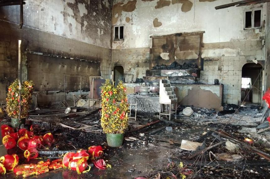 The front hall, prayer altar and several statues were badly damaged in the fire. Costs of the damage are estimated at between $300,000 and $400,000.